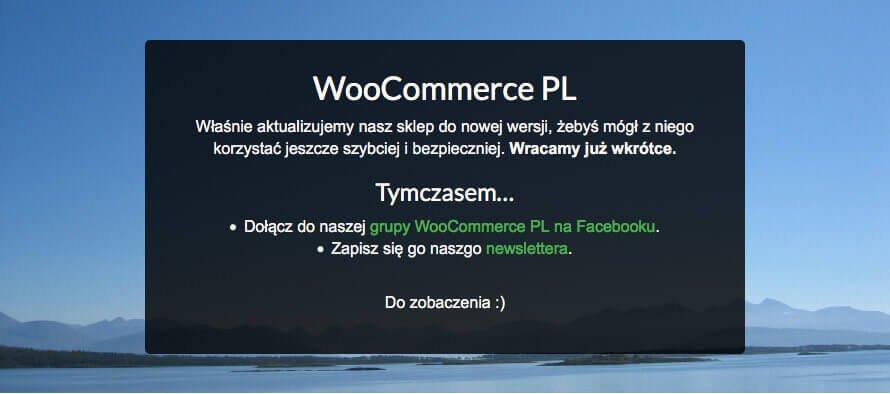 """W trybie """"coming soon"""" możesz być oceanem spokoju ;) Aktualizacja WooCommerce"""