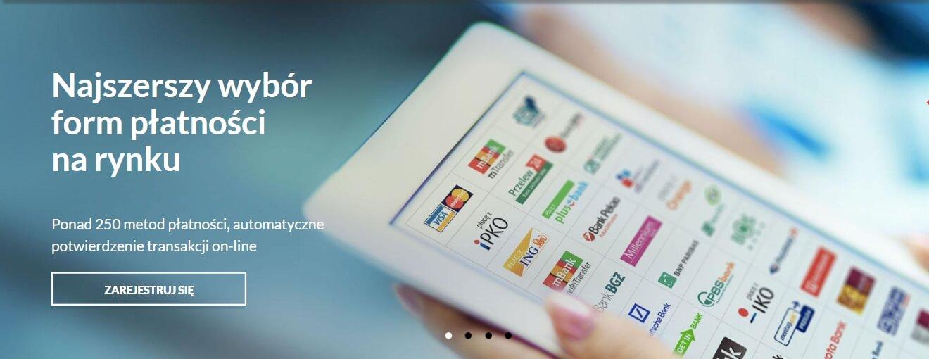 Najszerszy wybór form płatności na rynku - baner
