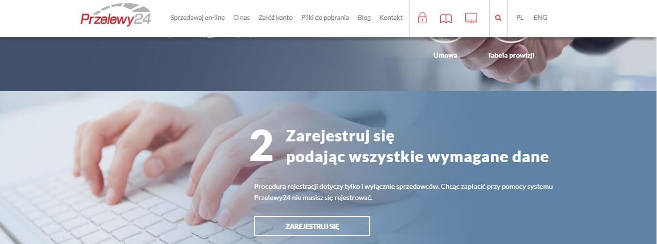 Przelewy24 vs Dotpay - rejestracja w Przelewy24