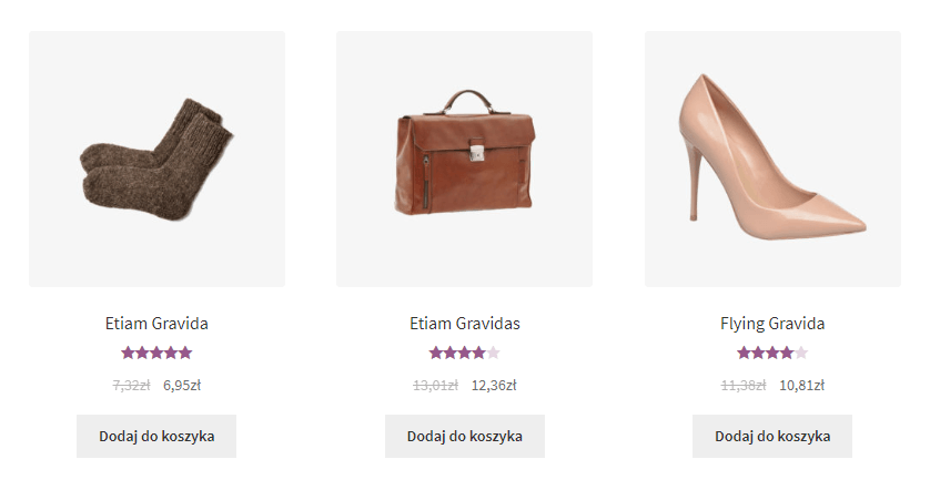 WooCommerce hurt detal - efekt w sklepie