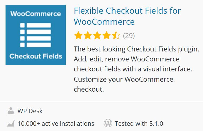 Flexible Checkout Fields