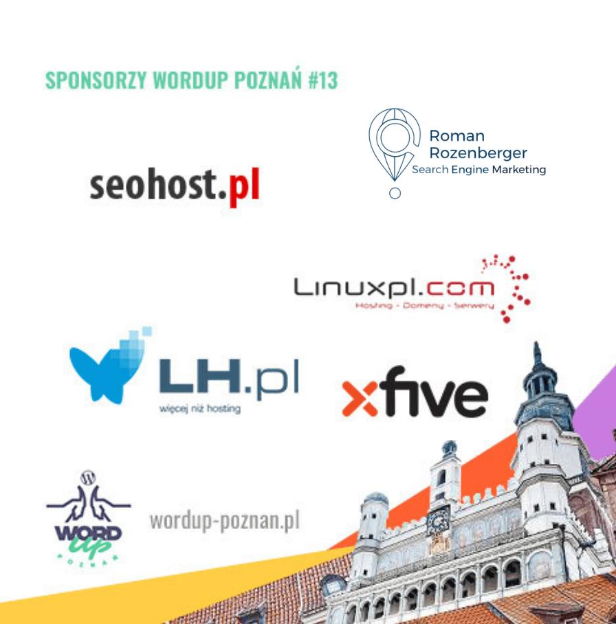 sponsorzy 13. WordUp Poznań