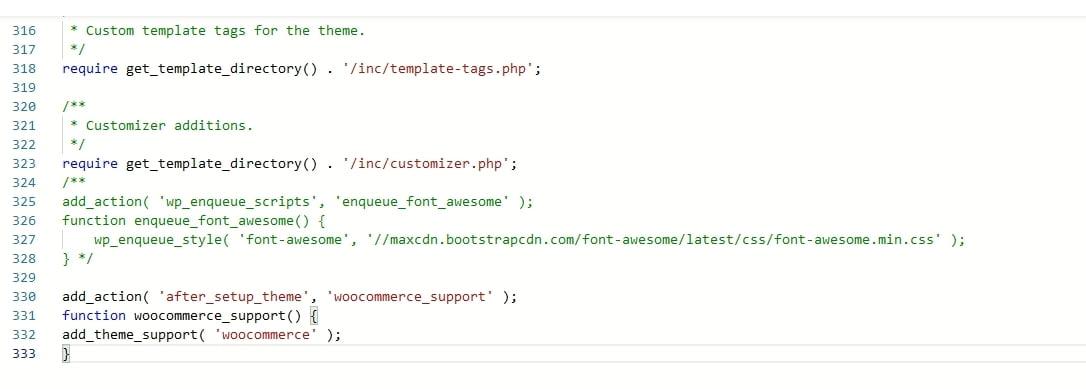 4. Ecycja pliku functions.php